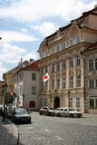 Japan embassy_ Prague. The Embassy of Japan in Prague  situated on Maltézské Square (Maltézské náměstí) in Lesser Quarter (Malá Strana Royalty Free Stock Photography