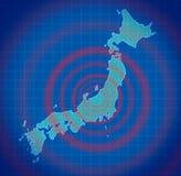 Japan-Erdbebenunfall lizenzfreie abbildung