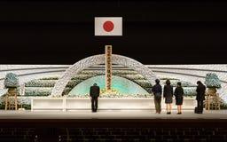 Japan erinnert sich an Opfer des Tsunamis. Lizenzfreies Stockfoto