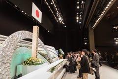 Japan erinnert sich an Opfer des Tsunamis. Stockfoto