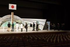Japan erinnert sich an Opfer des Tsunamis. Stockfotos