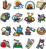Japan of the event icon collection. 1 year of the event icon collection of Japan stock illustration