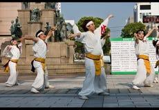 japan för daihanyadansarefestival Fotografering för Bildbyråer