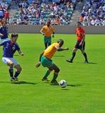 japan för kustfotbollelfenben match royaltyfria bilder