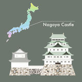 Japan Famous Castle Vector - Nagoya Castle Royalty Free Stock Photography