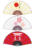 Japan fan. Traditional japan fan illustration on the white Stock Images