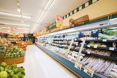 JAPAN - FEBRUARY 19, 2016 : various goods in supermarkets at Jap. An, mart Royalty Free Stock Photos