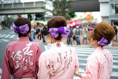 Japan festival hair style Royalty Free Stock Photos