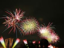 Japan-Feuerwerkssommerfestival 2017 Lizenzfreies Stockbild