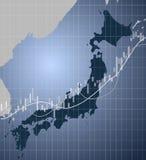 Japan finans och marknad Arkivfoto