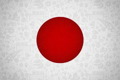 Japan flag background for russian soccer event Royalty Free Stock Photo