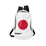 Japan flag backpack isolated on white Royalty Free Stock Photo