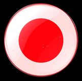 Japan Flag Button Royalty Free Stock Image