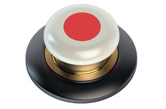 Japan flag button Stock Image