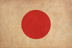 Japan flag drawing. Grunge and retro flag series stock photography