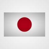 Japan flag on a gray background. Vector illustration Royalty Free Stock Images