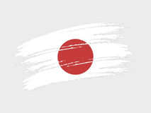 Japan. Flag of Japan grunge style. Isolated vector illustration on white background vector illustration