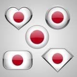 Japan flag icon theme Stock Image