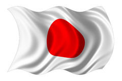 Japan flag isolated Stock Photography