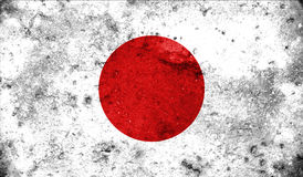 Japan flag on old background retro effect Royalty Free Stock Image