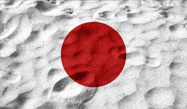 Japan flag on old background retro effect Royalty Free Stock Photography