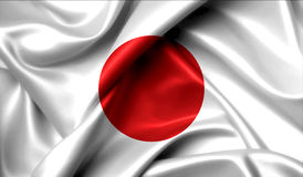 Japan flag on old background retro effect Royalty Free Stock Images