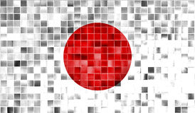 Japan flag on old background retro effect Stock Photo