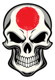 Japan flag painted on skull Royalty Free Stock Photos