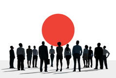 Japan Flag Patriotism Japanese Pride Unity Concept Stock Photo