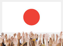 Japan Flag Patriotism Japanese Pride Unity Concept Royalty Free Stock Images