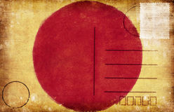 Japan flag postcard Stock Image