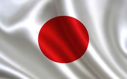 Japan flag. A series of `Flags of the world.` The country - Japan flag Stock Illustration