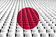 Japan flag stadium seats. Sports competition concept. stock photography