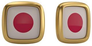 Japan flag symbol isolated on white background. 3D illustration. Japan flag symbol isolated on white background. 3D illustration vector illustration