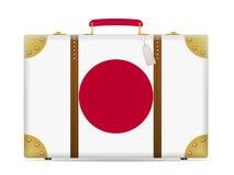 Japan flag travel suitcase Stock Photos