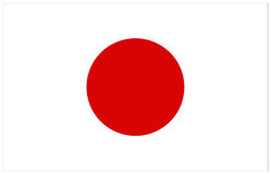 Japan flag Stock Images