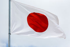 Japan flag waving on the wind Stock Images