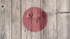 Japan Flag Wooden Fence. Japan Politics News Concept: Japanese Flag Wooden Fence stock photos