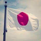 Japan flagga Fotografering för Bildbyråer