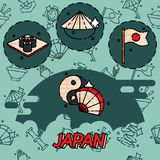 Japan flat concept icons Stock Photo