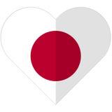Japan flat heart flag Royalty Free Stock Image