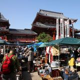 Japan flea market Royalty Free Stock Photography
