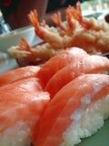 Japan food. Salmon sashimi sushi Royalty Free Stock Photography