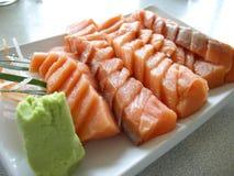Japan food. Salmon sashimi sushi Royalty Free Stock Photo