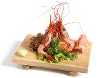 Japan food. Srimp isolated on white background Stock Photography