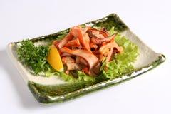 Japan food. With lemon  on white background Royalty Free Stock Photos