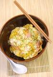 Japan-food. On bowl - asia food Royalty Free Stock Photos