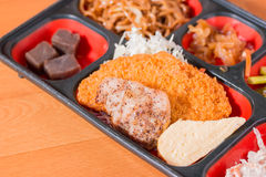 Japan Food close up  meat fritter. Stock Photo