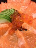 Japanese food salmon royalty free stock photo