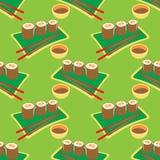 Japan food seamless pattern Stock Images
